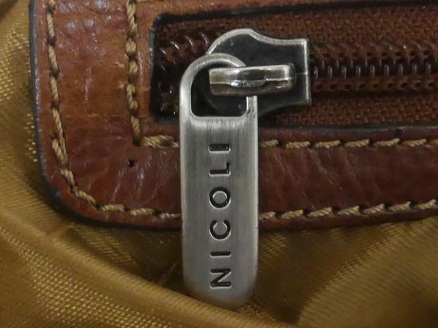 即決★NICOLI★レザーハンドバッグ ニコリ メンズ 茶 ブラウン 本革 トートバッグ 本皮 かばん 鞄 レディース 手提げバッグ_画像8