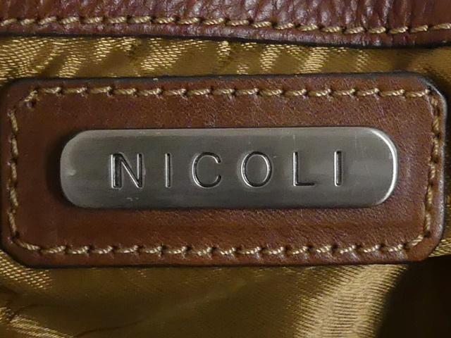 即決★NICOLI★レザーハンドバッグ ニコリ メンズ 茶 ブラウン 本革 トートバッグ 本皮 かばん 鞄 レディース 手提げバッグ_画像10
