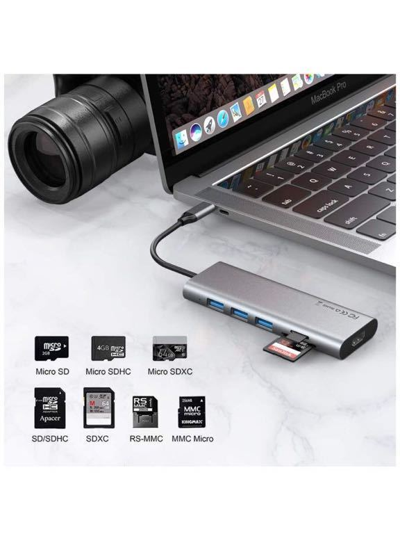 Usb-c Convert Hdmi+usb3.0+pd 4in1 Converter for Apple Samsung Huawei Mobile Phone Converter S-1654