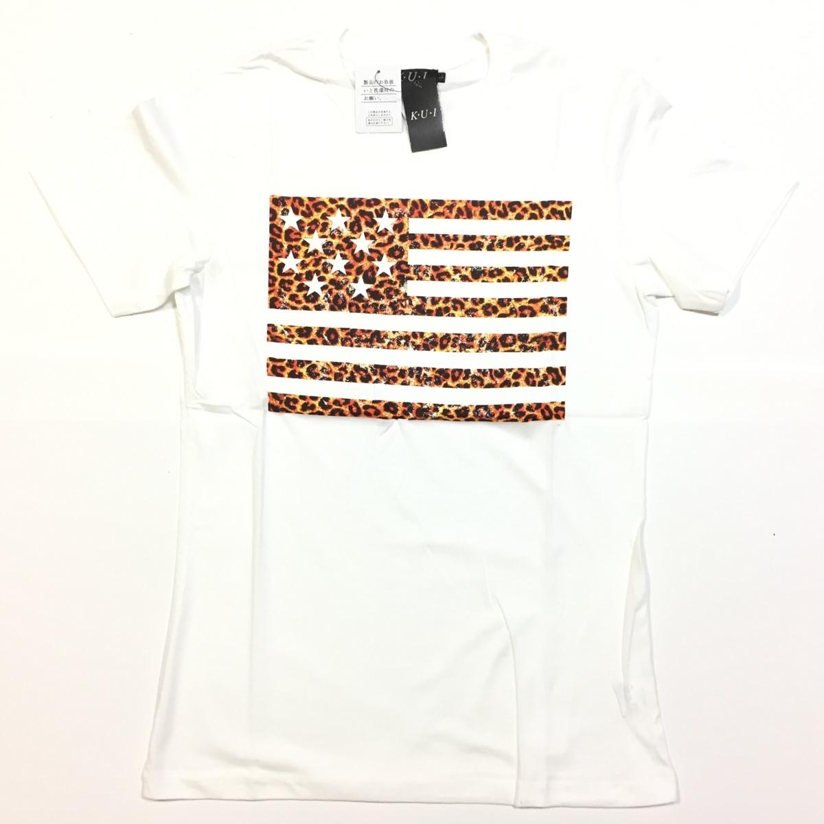 【卸売り】2枚セット メーカー希望小売価格¥3,190 新品 レオパード ヒョウ柄 星条旗 Tシャツ Lサイズ アメカジ ビター系_画像5