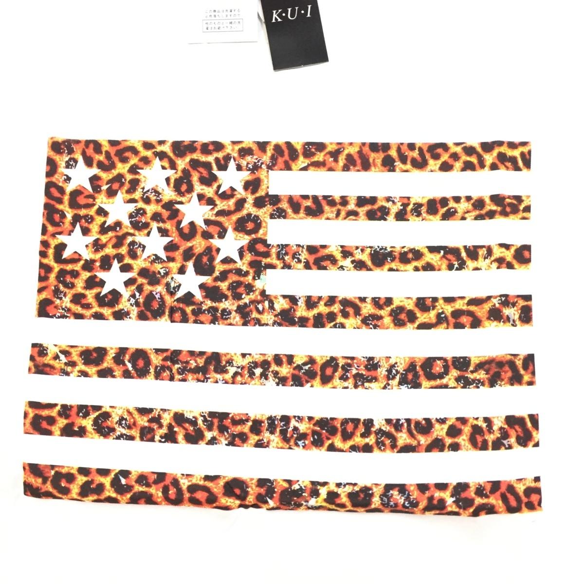【卸売り】2枚セット メーカー希望小売価格¥3,190 新品 レオパード ヒョウ柄 星条旗 Tシャツ Lサイズ アメカジ ビター系_画像7
