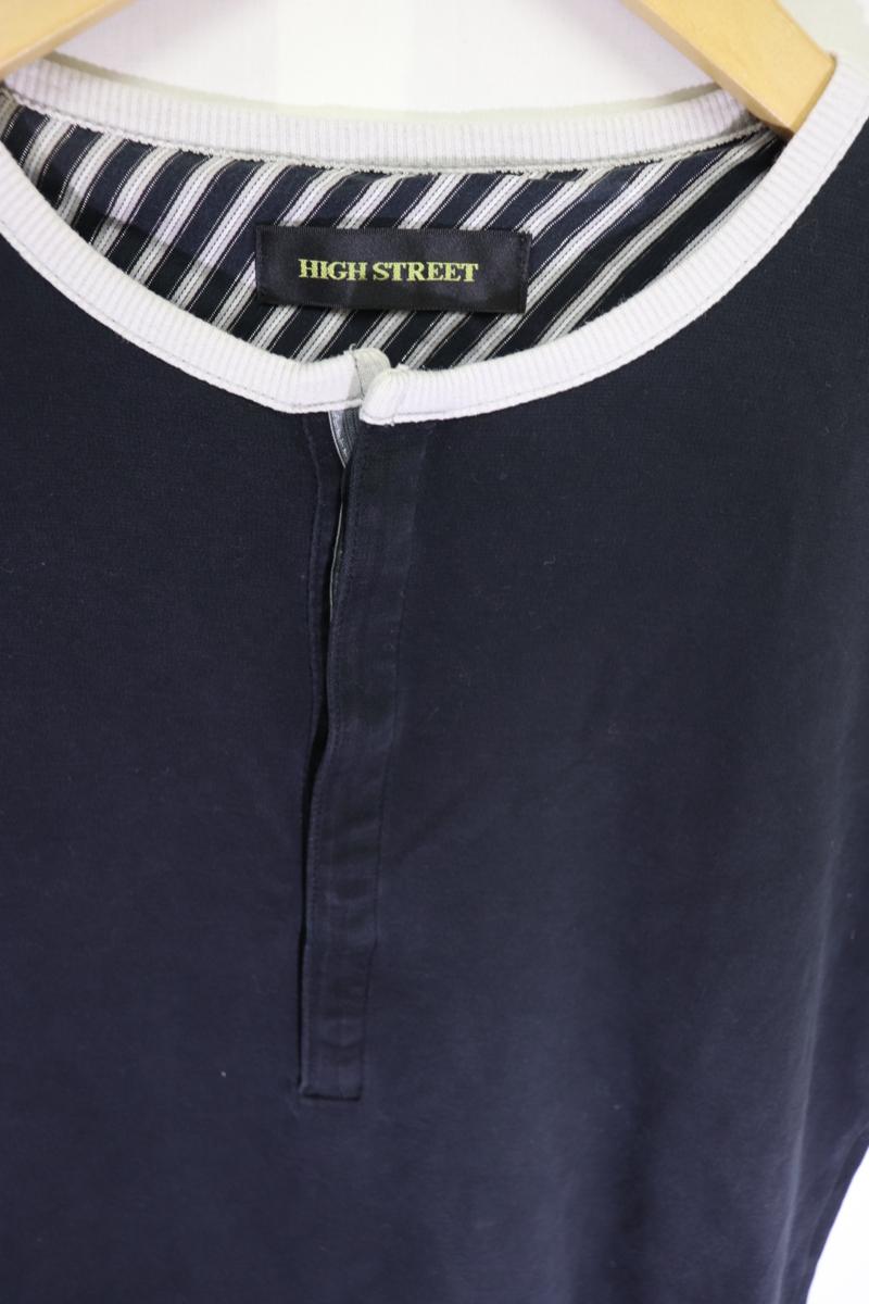 【メンズ】【良品保証返品OK】HIGH STREETヘンリーTシャツ/高品質ブランド高級S_画像3