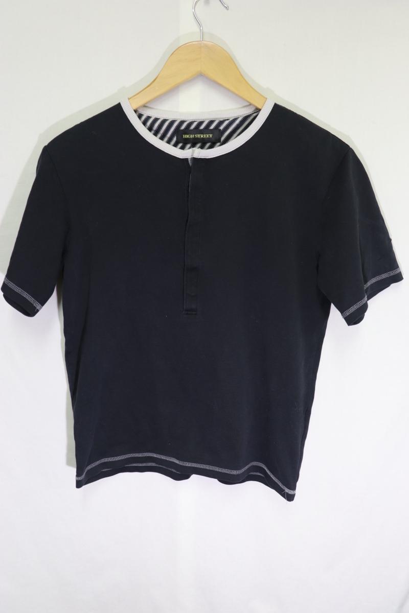 【メンズ】【良品保証返品OK】HIGH STREETヘンリーTシャツ/高品質ブランド高級S_画像2