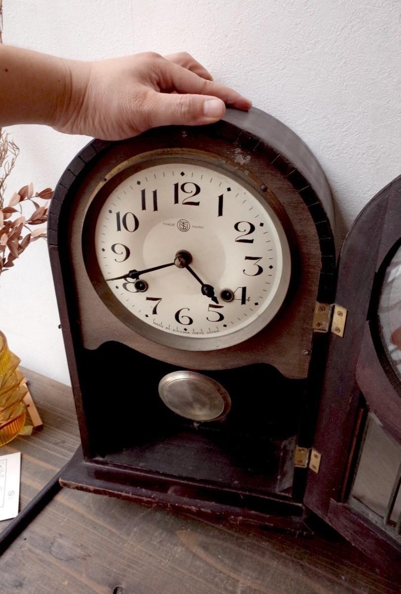 ○EIKOSHA 栄光舎 手巻き振り子時計アンティーク デザイン可愛い 古道具のgplus広島 2006k_画像8
