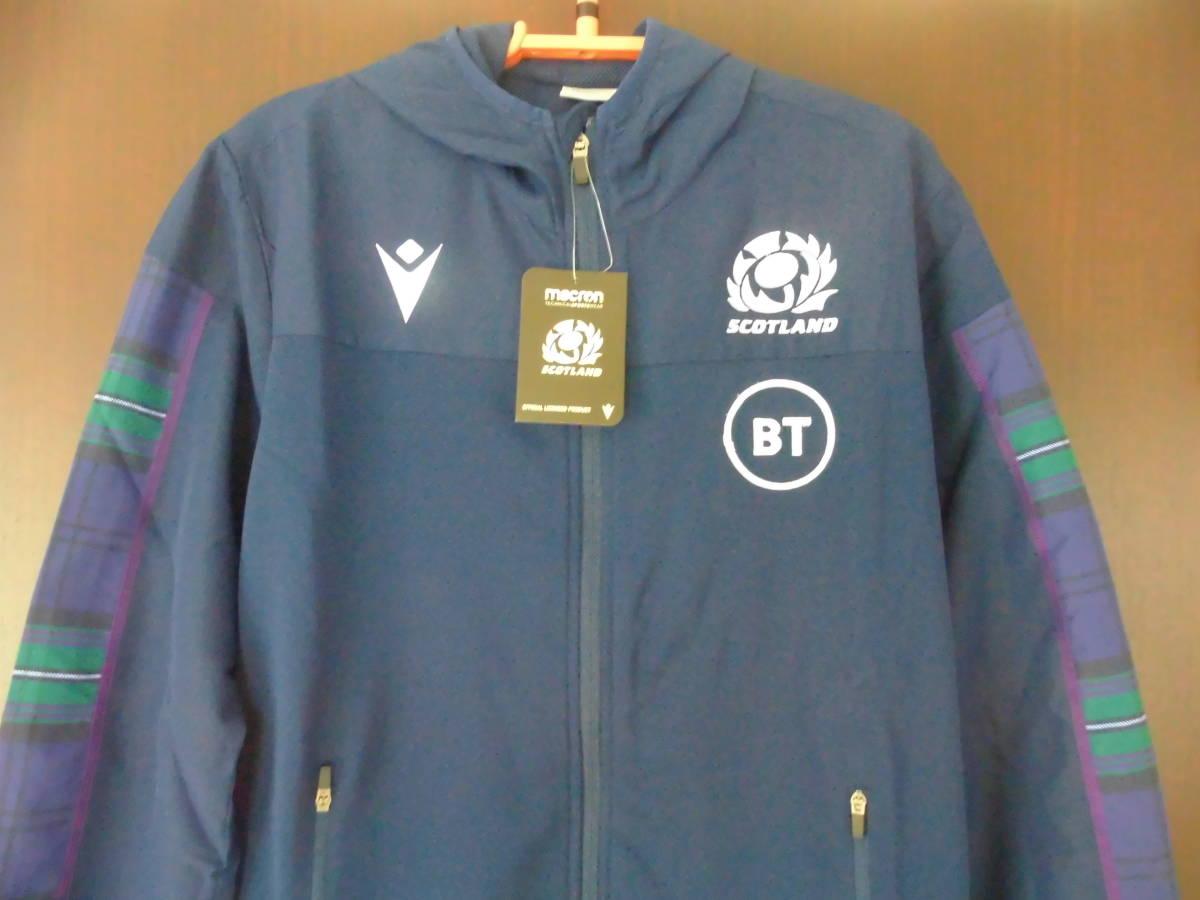 海外L(178-183cm)★Scotland(スコットランド代表)2019/20 Players Anthem Hooded Rugby Jacket(フード付 ラグビー ジャケット)★macron