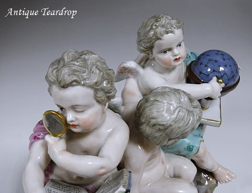 ◆マイセン人形「天体観測」◆アンティークマイセン_画像8