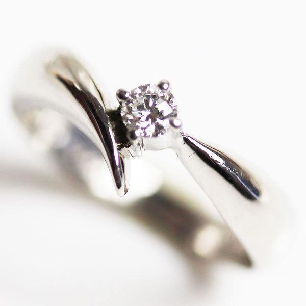 【MR2776】★PT900 プラチナ ダイヤモンドリング ファッションリング レディース指輪 D0.13 3.5g サイズ9号★ 【中古】【質屋出品】_画像1
