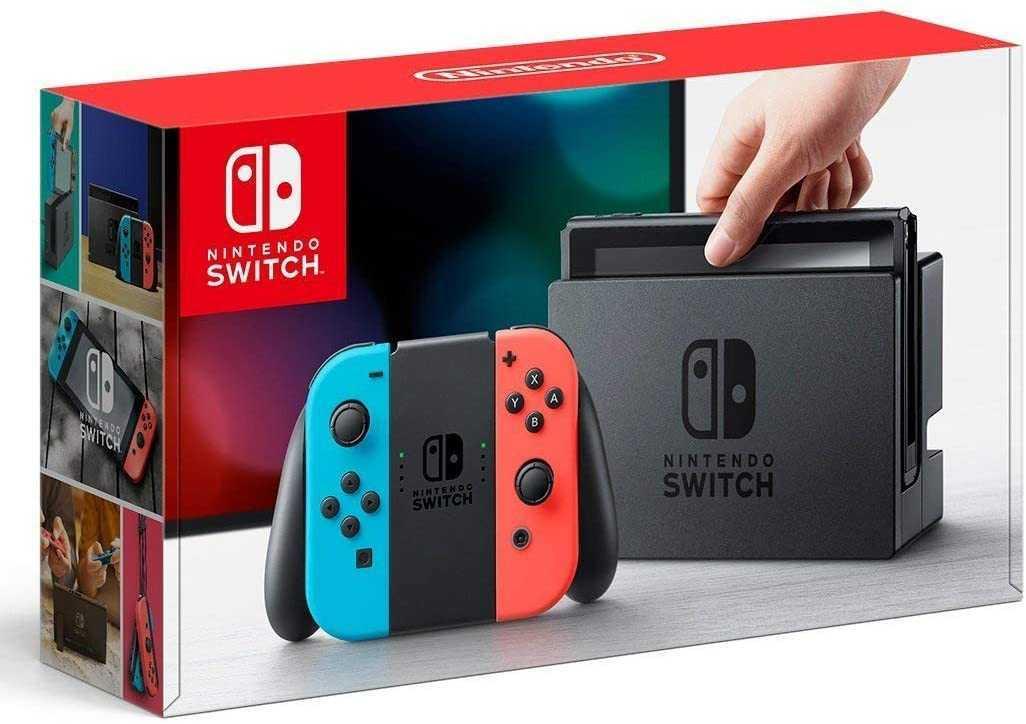 任天堂 Nintendo Switch 本体 Joy-Con(L)ネオンブルー (R)ネオンレッド バッテリー持続時間が長くなった新モデル ニンテンドースイッチ本体_画像1