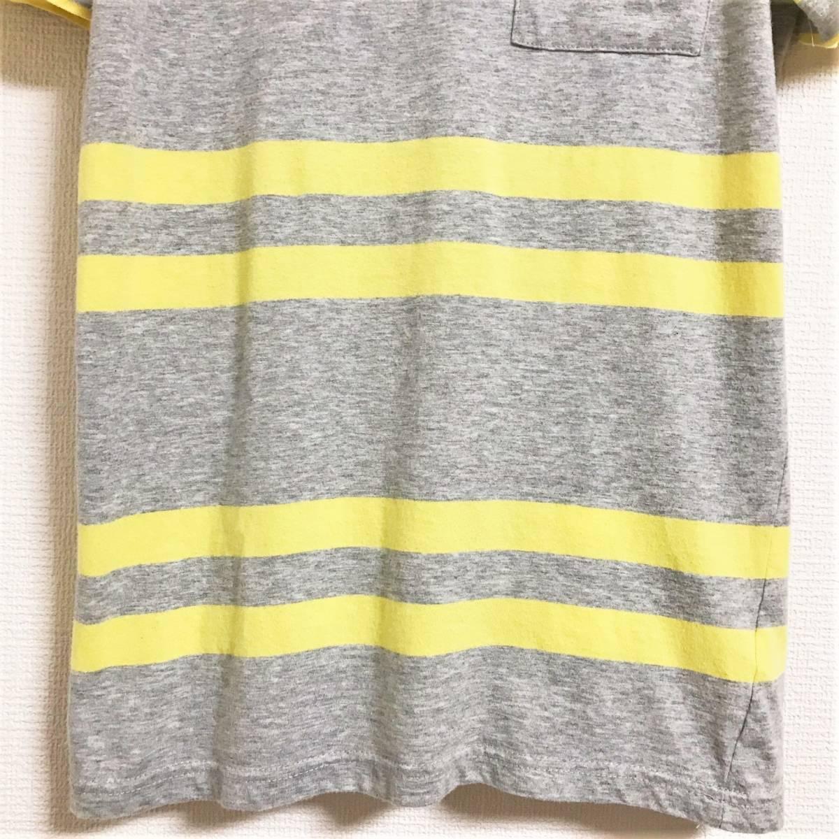 ★送料無料 サタデーズ サーフ ニューヨーク SATURDAYS SURF NYC ★ビームス取扱い ダブルライン ボーダー柄 胸ポケット Tシャツ ポケT
