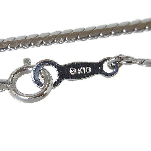 【MIKIMOTO】ミキモト真珠 K18WGパール、ダイヤペンダントネックレス 11mm、D:0.47ct、8.7g_画像5