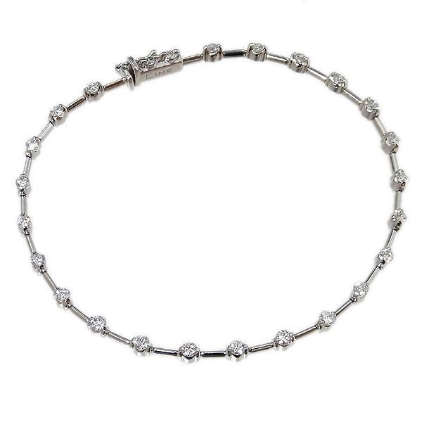 デ・ビアス社 LINE ライン K18WG ダイヤ ブレスレット D1.25ct/7.5g_画像1