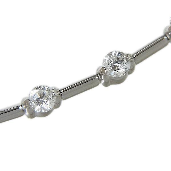 デ・ビアス社 LINE ライン K18WG ダイヤ ブレスレット D1.25ct/7.5g_画像5