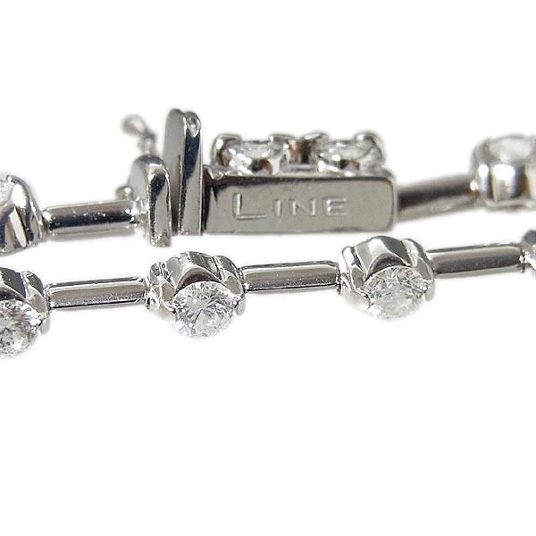 デ・ビアス社 LINE ライン K18WG ダイヤ ブレスレット D1.25ct/7.5g_画像3