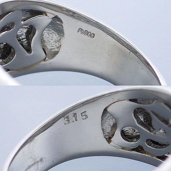 ファッションリング Pt900 パヴェダイヤリング D 3.15ct/16.0g/16号中古 送料無料_画像6