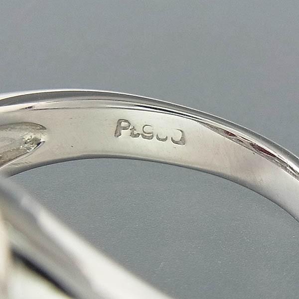 Pt900サンゴ(珊瑚)指輪 プラチナ サンゴリング 12mm/D 0.35ct 9.0g/11号中古 送料無料_画像6