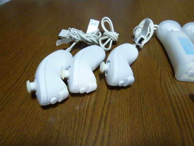 RSJN064【送料無料】Wii リモコン ジャケット ストラップ 3個セット ホワイト (動作良好 クリーニング済)