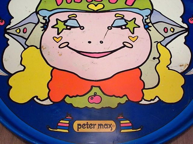 ビンテージ70's★Peter Max ティントレイ★200108n6-otclct ピーターマックスブリキ雑貨_画像5