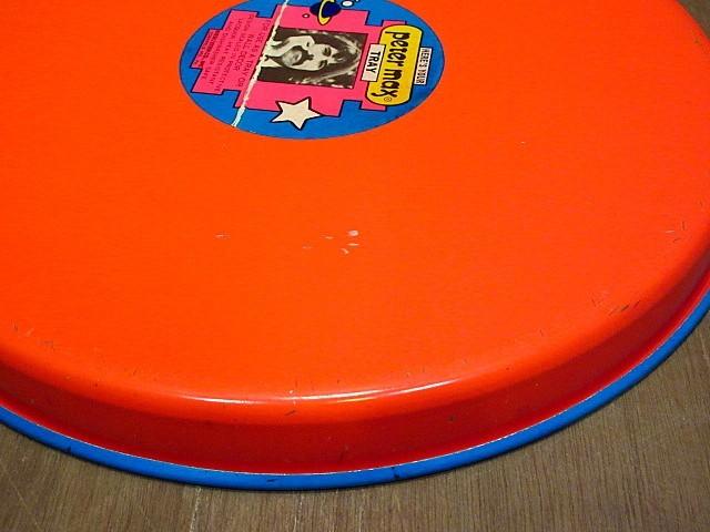 ビンテージ70's★Peter Max ティントレイ★200108n8-otclct ブリキ雑貨ピーターマックス_画像8