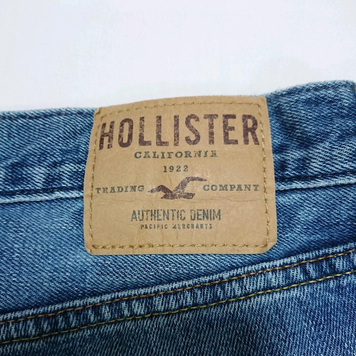 即決 送料無料 HOLLISTER スリムストレート ジーンズ デニム ジーパン ボタンフライ ホリスター 紺 29