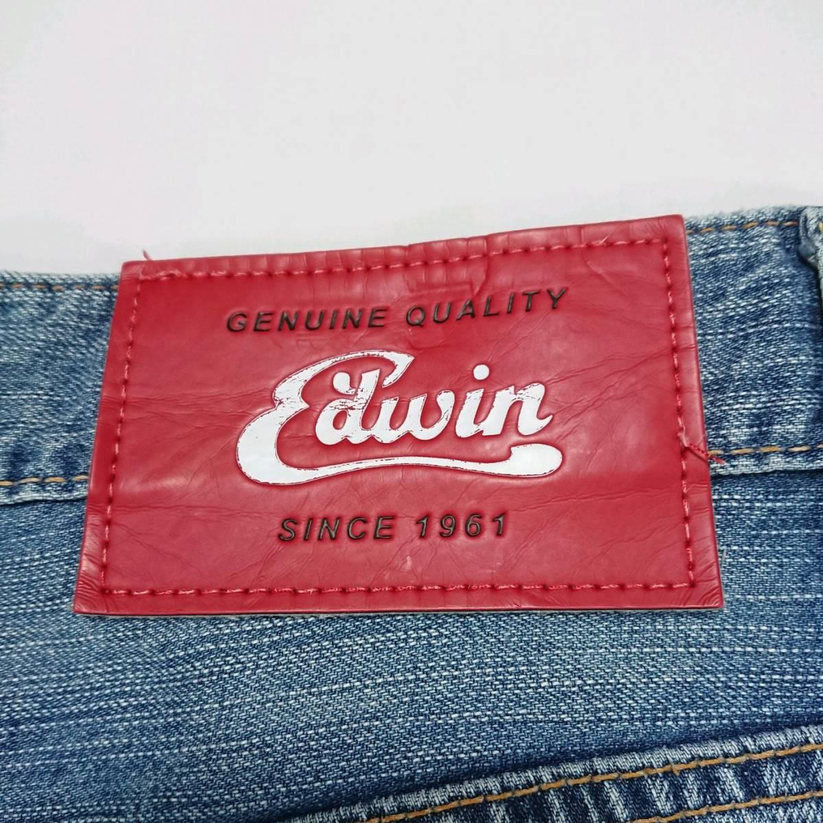 即決 送料無料 EDWIN 51346 ハーフパンツ ジーンズ デニム ジーパン エドウィン ブルー 28