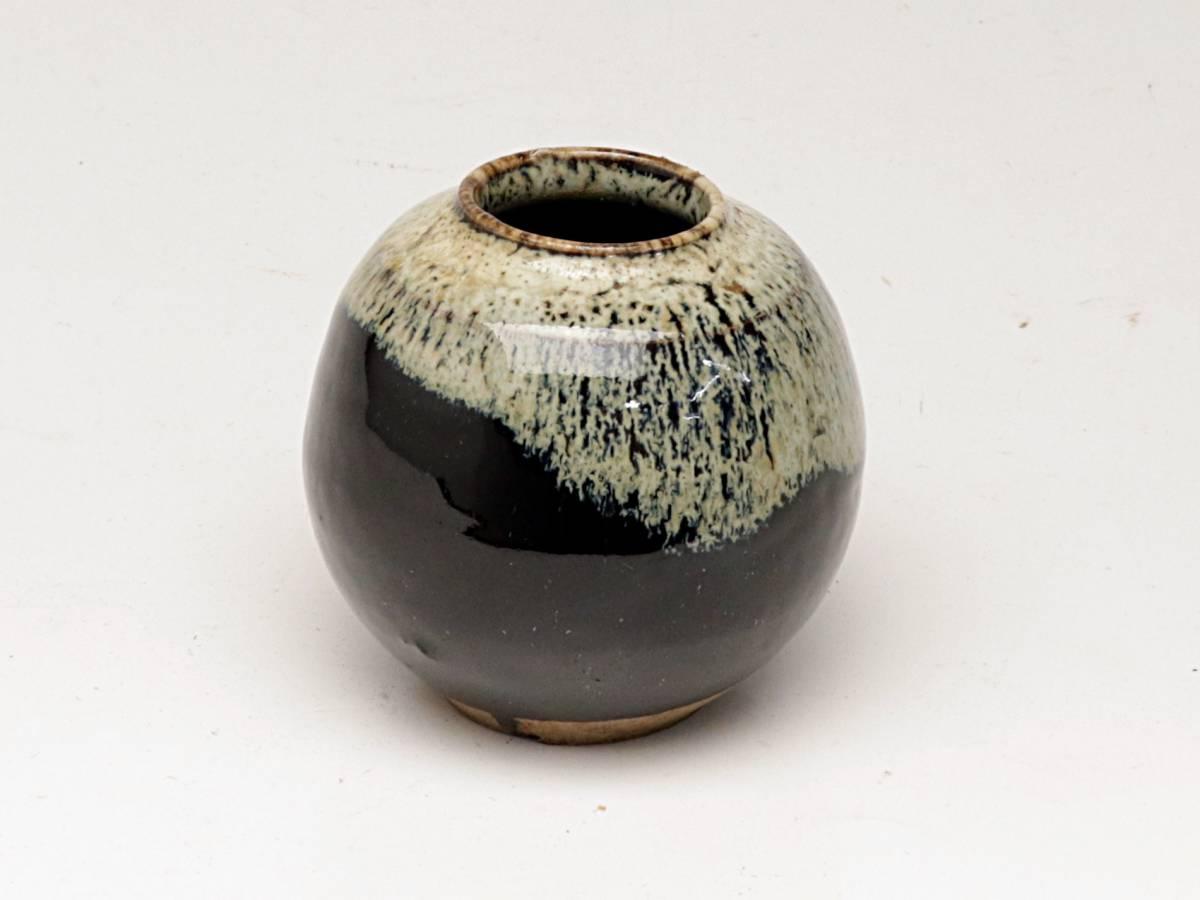 【蔵】朝鮮唐津茶入 茶入 茶道具 茶器 煎茶道具 煎茶器 茶筒 仕覆付き Y220_画像8