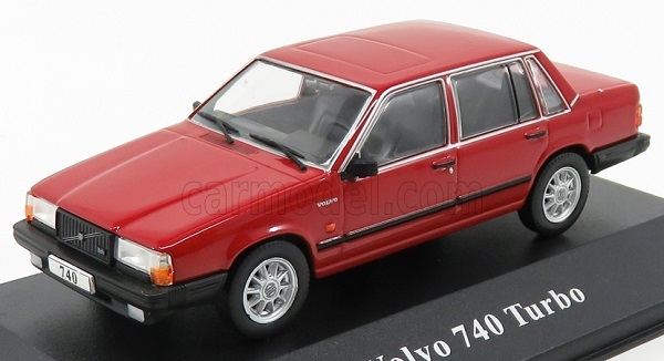 1:43 Atlas Volvo Collection Volvo 740 Turbo 1984-1992 red