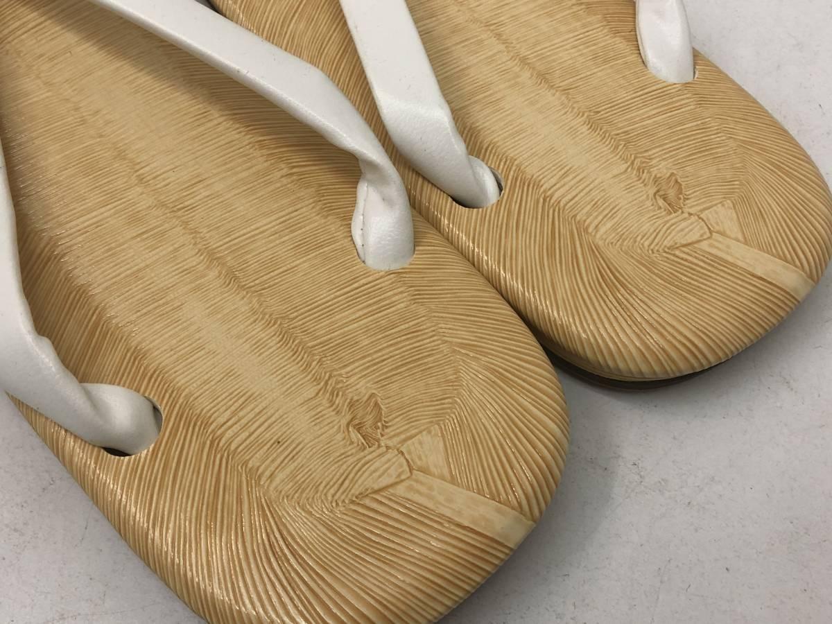 【F-8】  雪駄 日本製 黄タタミ 草履 二枚芯 白鼻緒 Lサイズ 未使用 その1_画像4