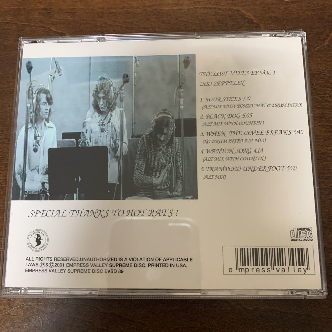 Empress Valley 1CD Led Zeppelin The Lost Mixes EP Vol. 1★レッド・ツェッペリン