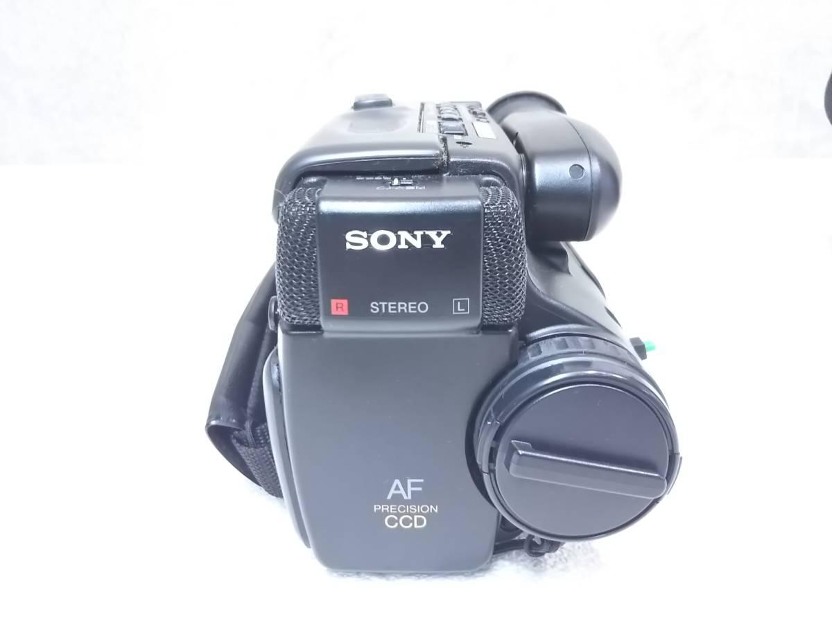 【ジャンク】SONY/ソニー CCD-TR75 ビデオカメラレコーダー ハンディカム Video8  レトロ_画像3