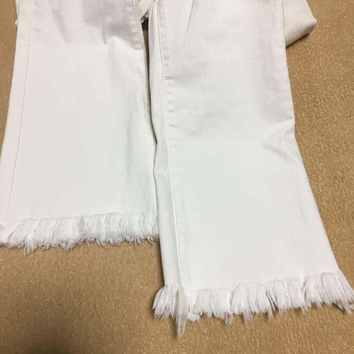 白色スキニーデニムパンツ L