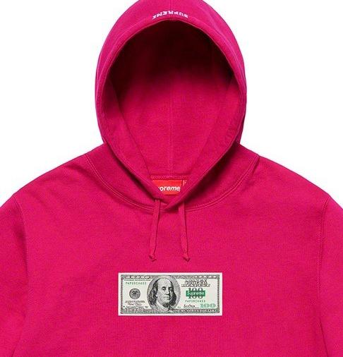 完全新品 20ss Supreme Franklin Hooded Sweatshirt Fuchsia オンライン納品書 原本付 M