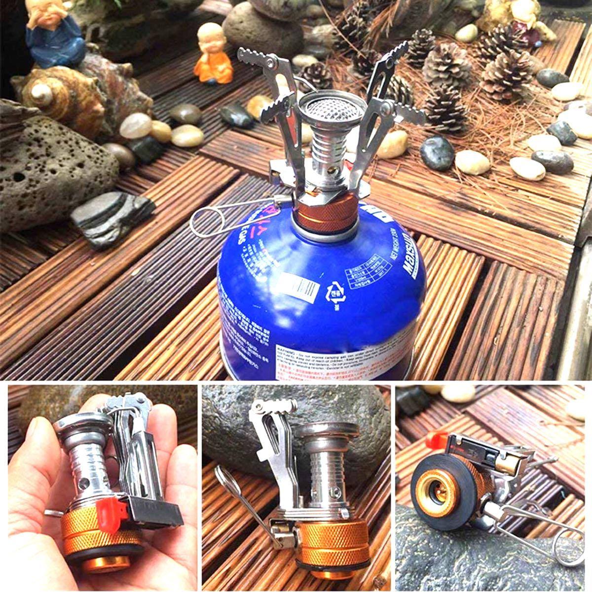 シングルバーナー ガスコンロ 圧電点火 コンパクトバーナー 火力調整 アウトドア