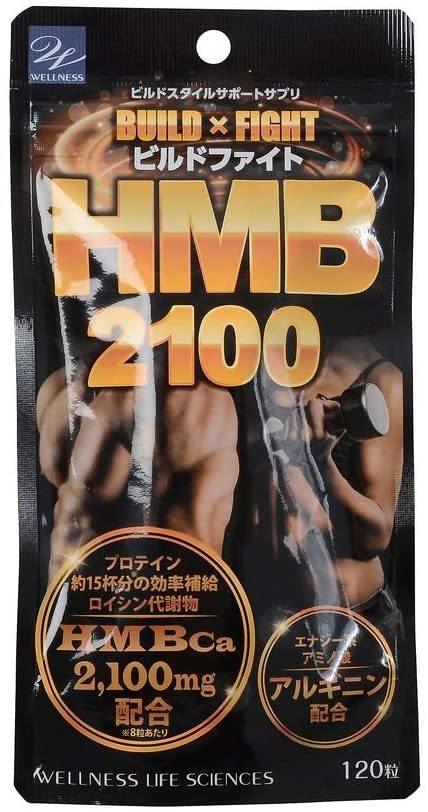 ウエルネスライフ サイエンス ビルドファイト HMB2100 120粒 新品_画像1