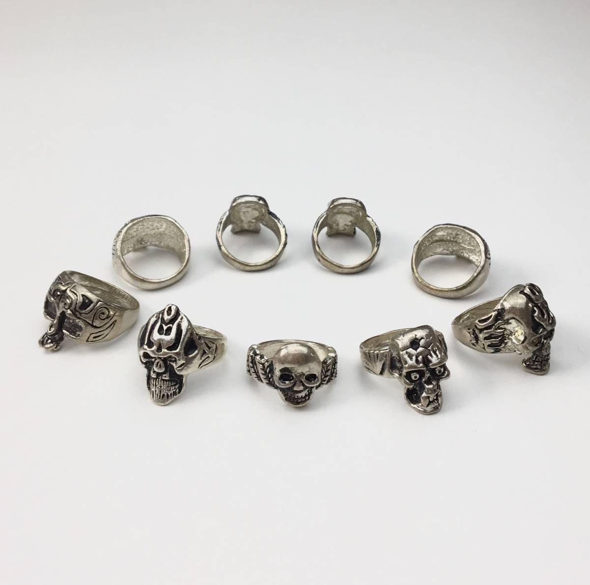 スカル リング 指輪 髑髏 ドクロ 骸骨 ガイコツ SKULL シルバーアクセサリー アンティーク アメリカ USA 雑貨 ヴィンテージ vintage 8_他のスカルリングも出品中です。