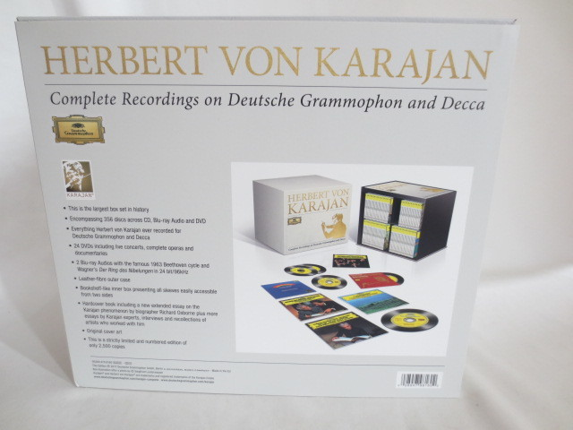 HERBERT VON KARAJAN 大型BOX CD+DVD+Blu-ray Audio 美品_画像2