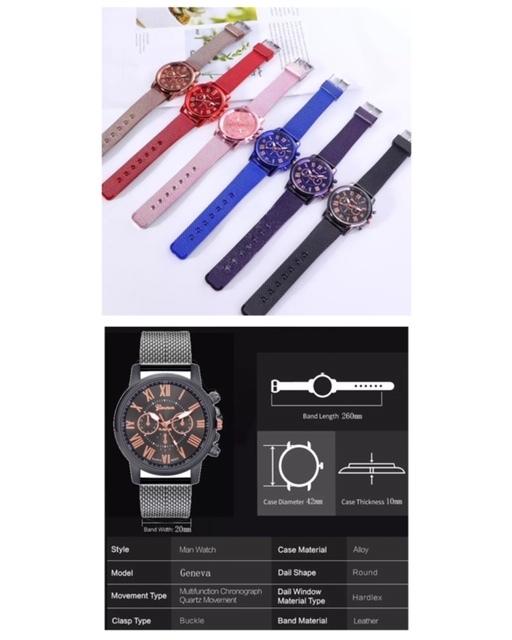 腕時計 時計 ギリシャ文字 ステンレス メッシュ アナログ メンズ クォーツ ファッション時計 男女兼用 オシャレ ウォッチ ブルー 22_画像4