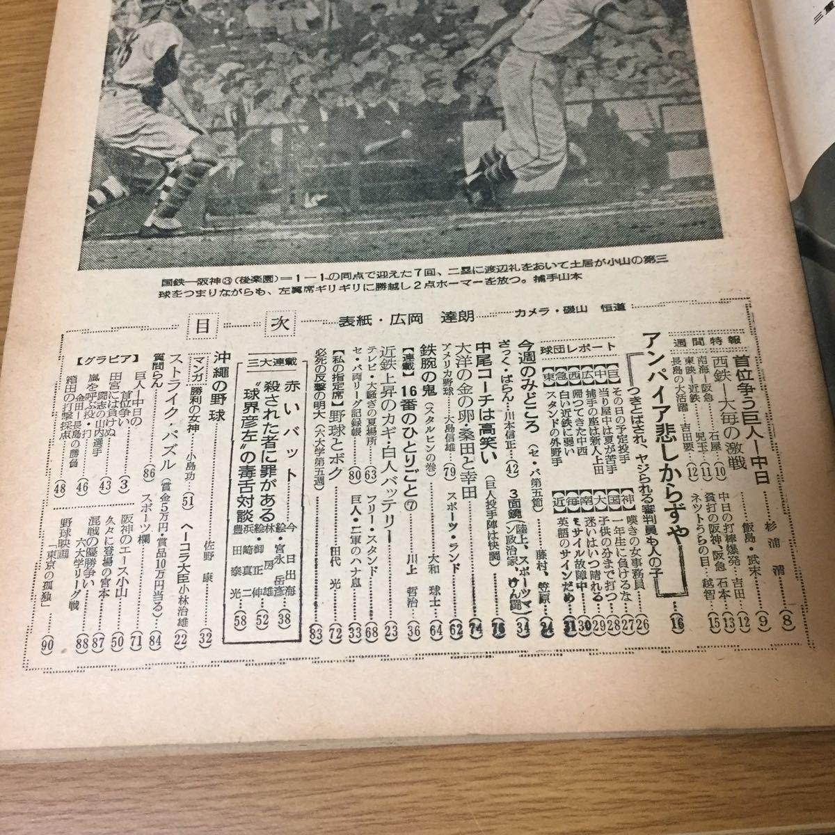 当時物 週刊読売スポーツ プロ野球誌 1959年(昭和34年)5月15日発行 野球 巨人 アンパイアの憂うつ_画像5
