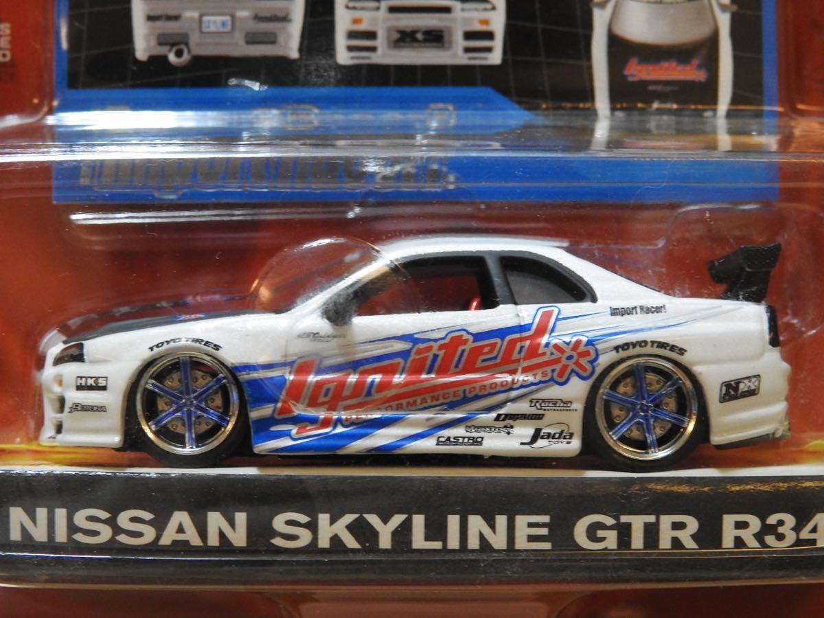 【新品:未開封】JADA Toys 1/64 Import Racer! ニッサン スカイライン GT-R R34[ SKYLINE GT-R]WAVE7/070_画像5