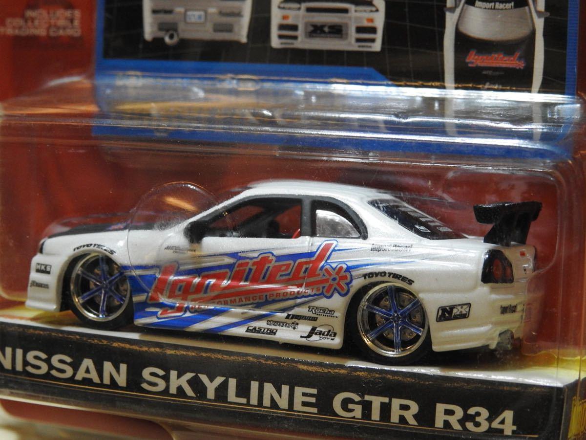 【新品:未開封】JADA Toys 1/64 Import Racer! ニッサン スカイライン GT-R R34[ SKYLINE GT-R]WAVE7/070_画像6