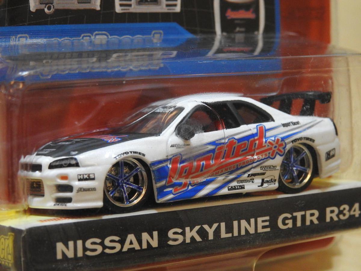 【新品:未開封】JADA Toys 1/64 Import Racer! ニッサン スカイライン GT-R R34[ SKYLINE GT-R]WAVE7/070_画像4