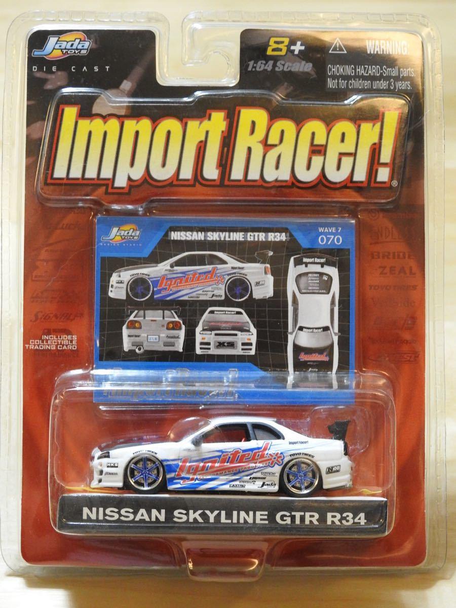 【新品:未開封】JADA Toys 1/64 Import Racer! ニッサン スカイライン GT-R R34[ SKYLINE GT-R]WAVE7/070_画像1