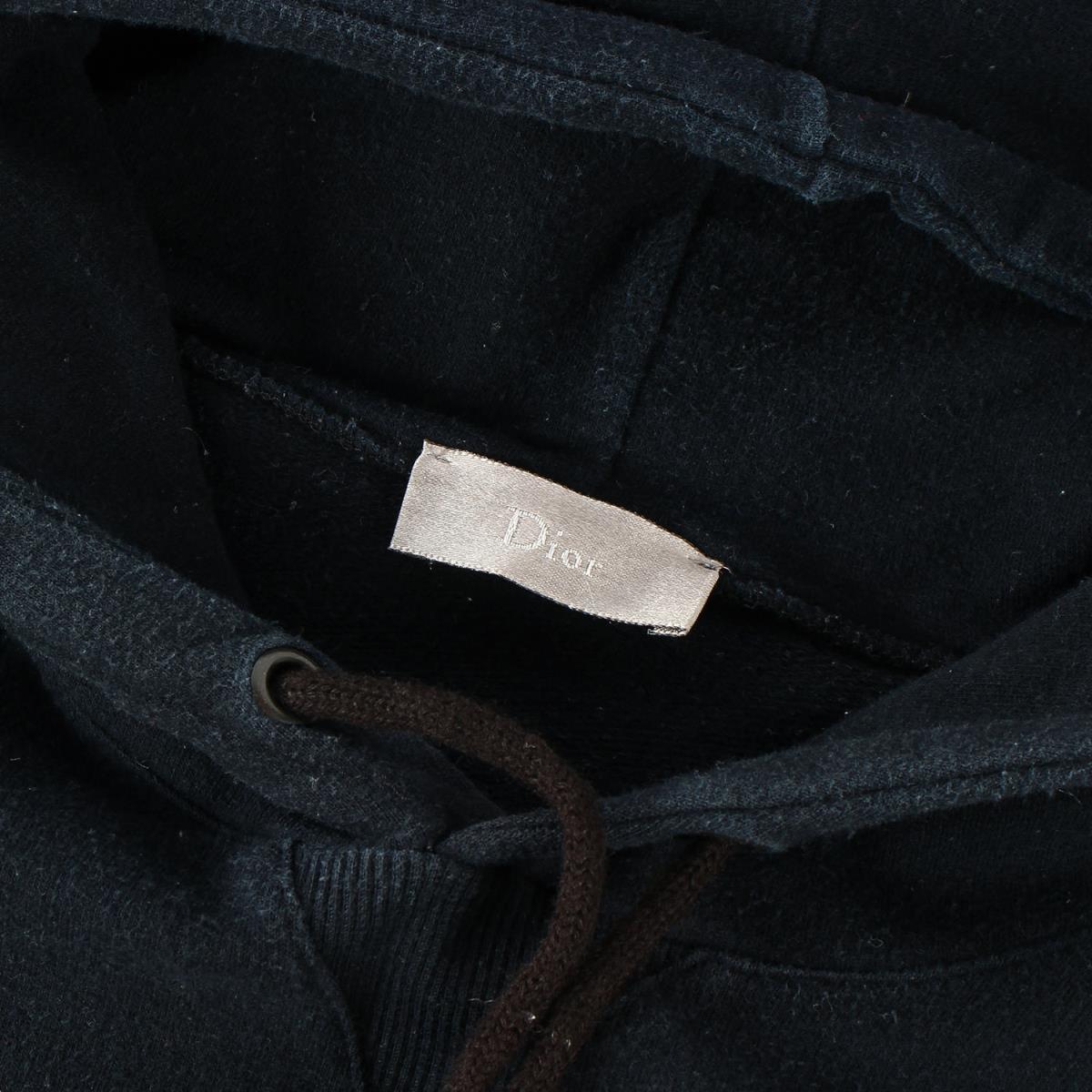 Dior HOMME ディオールオム パーカー 06AW These Grey Days期 グラフィックロゴ スウェット パーカー ブラック XS_画像3