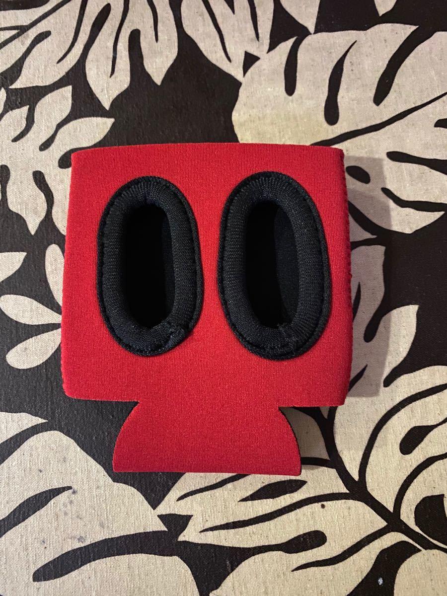赤 焚火会 缶ホルダー クージー カップ保冷ボトル キャンプ アウトドア BBQ