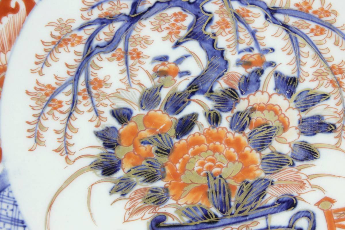 。◆舩◆ 古美術品 伊万里 金蘭手大皿 47cm 唐物骨董 [F368]//(140)_画像2