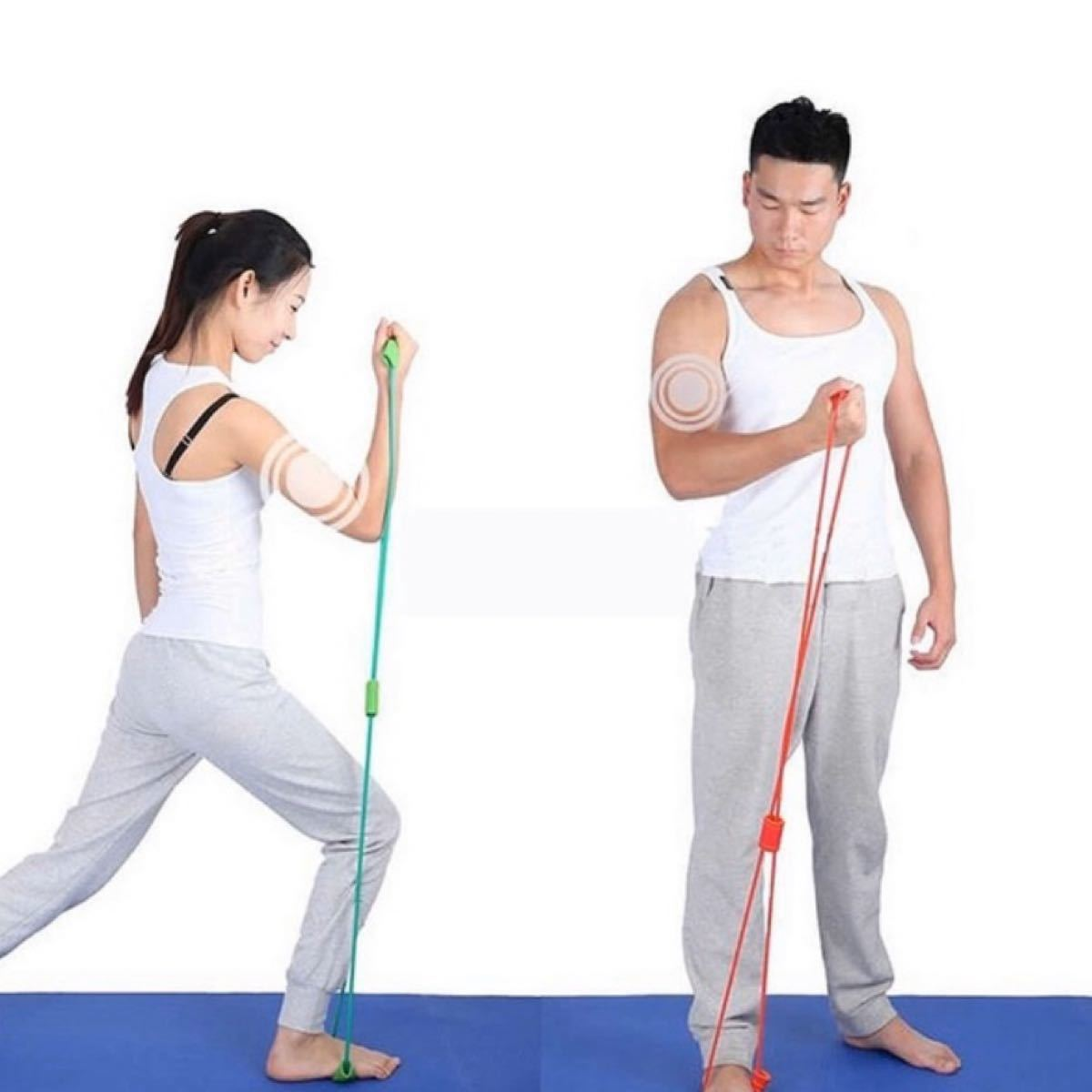チューブ トレーニング ピンク と パープル セール 運動 エクササイズ 器具
