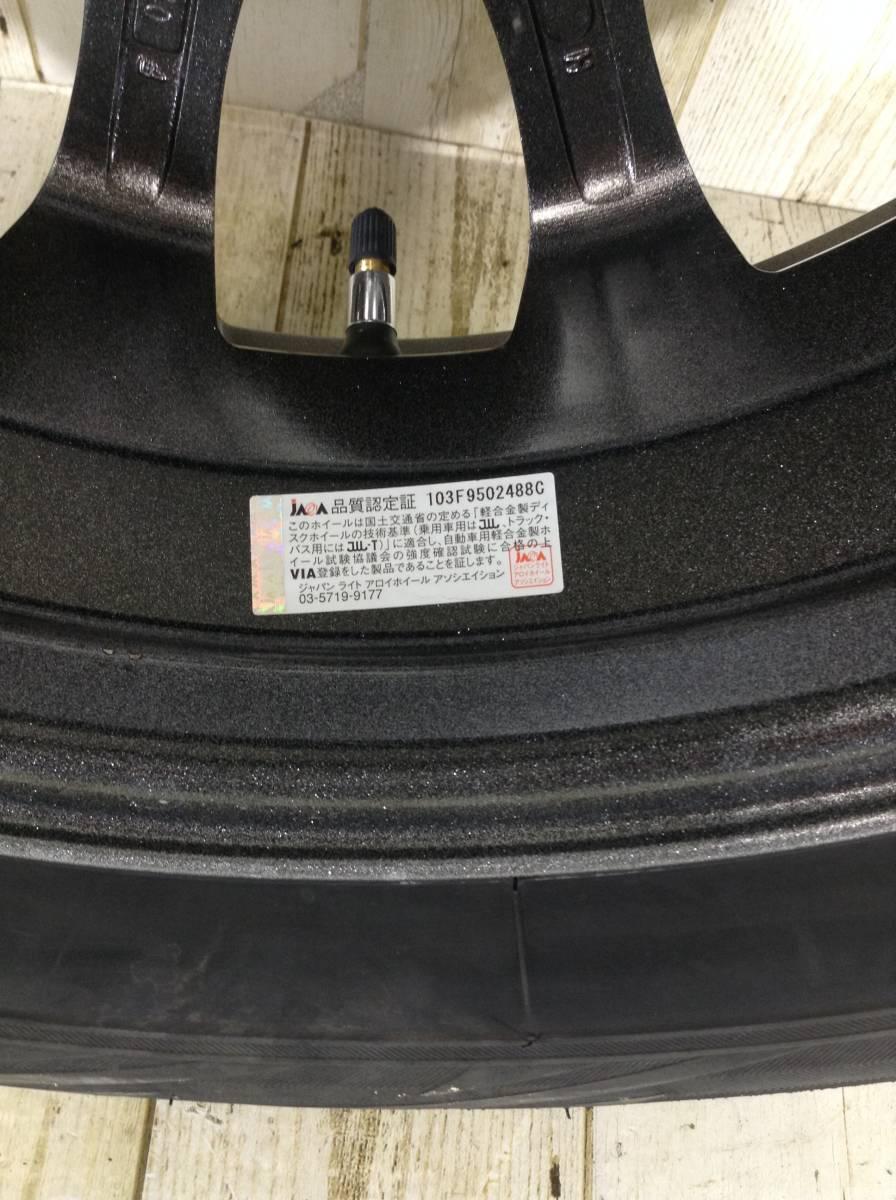 R087 タイヤホイール1本 Tirado ETA 4H/PCD100 175/65R15 4.5J Offset +45 スタッドレスタイヤ BRIDGESTONE BLIZZAK REVO GZ_画像6