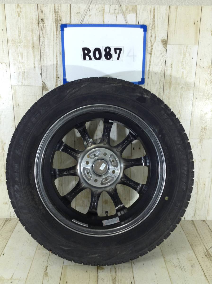 R087 タイヤホイール1本 Tirado ETA 4H/PCD100 175/65R15 4.5J Offset +45 スタッドレスタイヤ BRIDGESTONE BLIZZAK REVO GZ_画像4