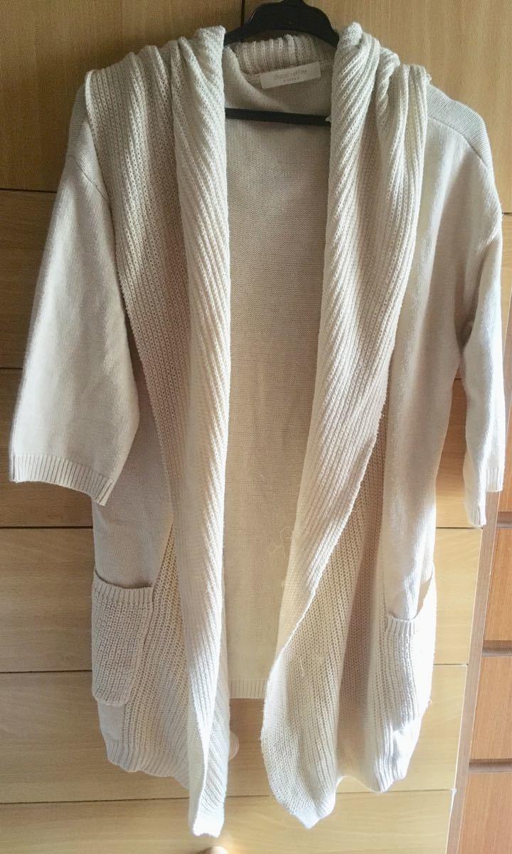 chocol raffine robe 五分袖 ロングカーディガン