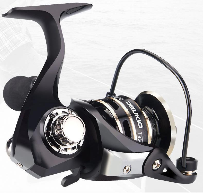 YU47 スピニングリール 3000番 軽量 淡水釣り海釣り ギア比5.2:1 最大ドラグ力5KG~8KG 左右交換可能 淡水 海水 耐久性 EVA ハンドル _画像3