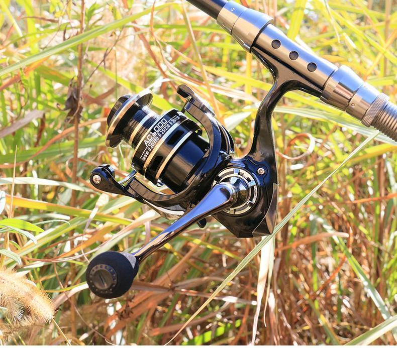 YU47 スピニングリール 3000番 軽量 淡水釣り海釣り ギア比5.2:1 最大ドラグ力5KG~8KG 左右交換可能 淡水 海水 耐久性 EVA ハンドル _画像4